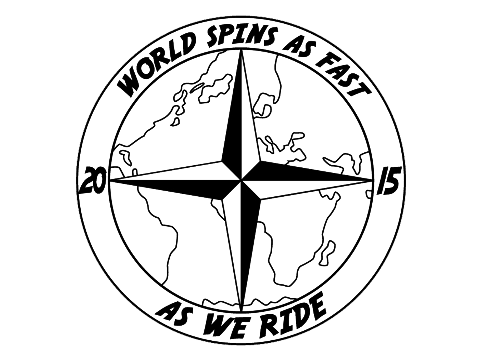 World spins as fast as we ride